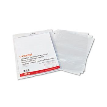 Business Card Binder Pages 20 Cards Letter Page Clear 10
