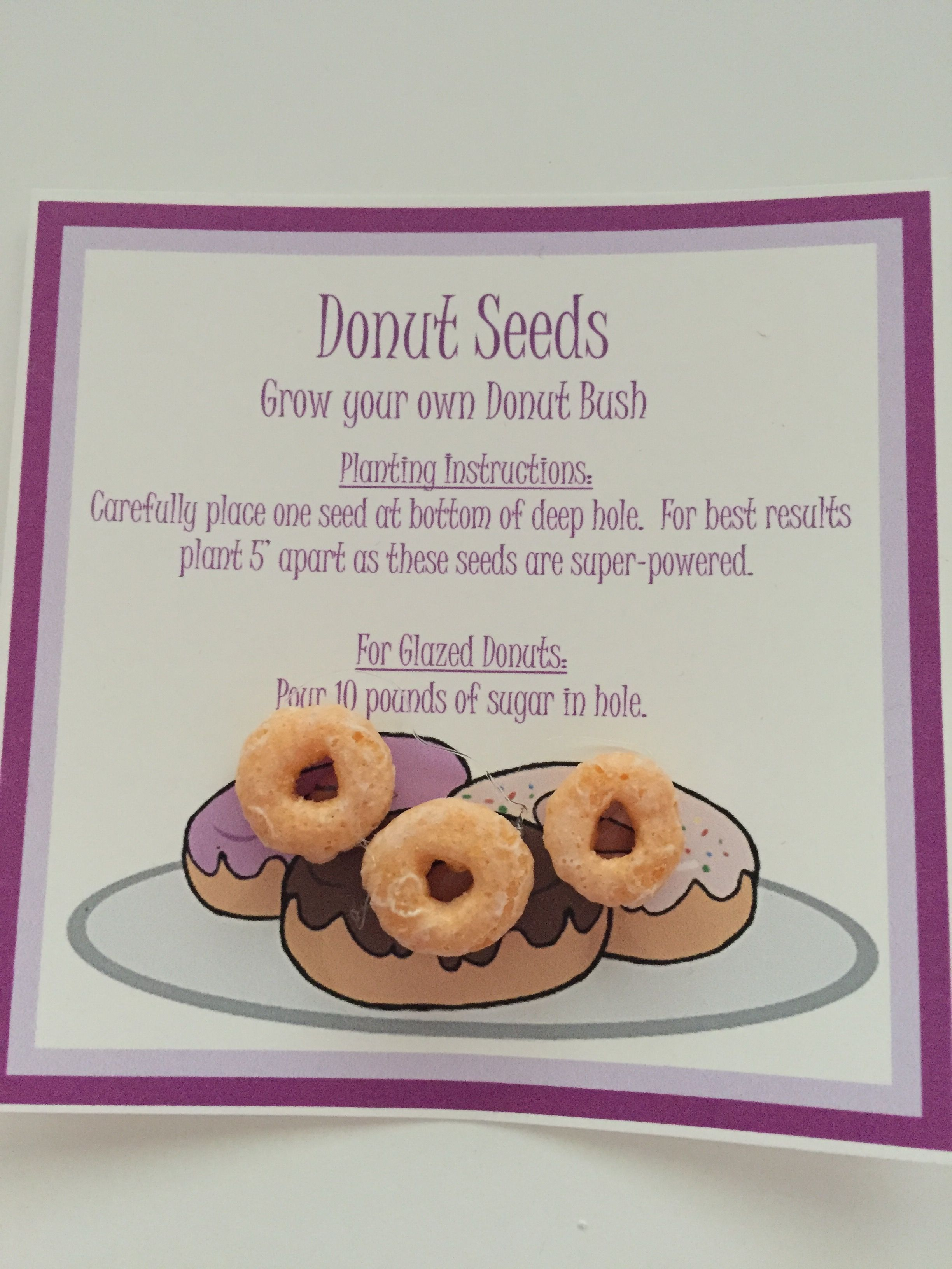 Donut Seeds Old Joke But Still Funny Glue Cheerios Or