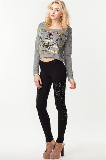 4112900f11d Rhinestone Waterfall Legging | My style | Fashion, Latest dress, Clothes