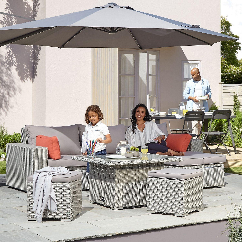 Gabbs Grey Rattan effect Sofa set  Metal sofa, Sofa set, Outdoor