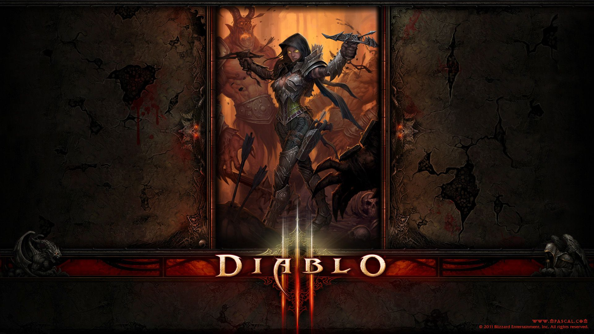 Wallpaper Diablo 3 Demon Hunter Wallpaper By Panperkin