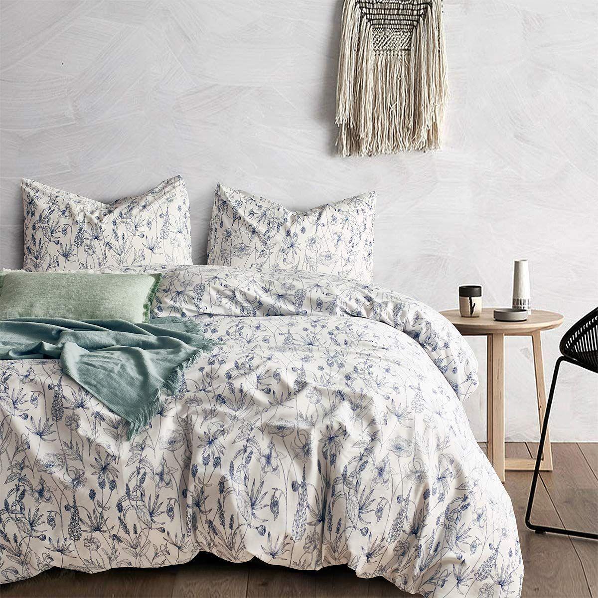 Amazon Com Opcloud Bedding Duvet Cover Set 600tc Queen Cotton Luxury Soft Floral Comforter Cover Set 1 Du Duvet Cover Sets Rustic Duvet Cover Bed Duvet Covers What is a duvet cover set