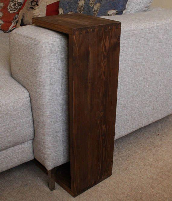 Sofa Table Sofa Tray Sofa Arm Table End Table Side Etsy Sofa Arm Table Couch Table Reclaimed Table
