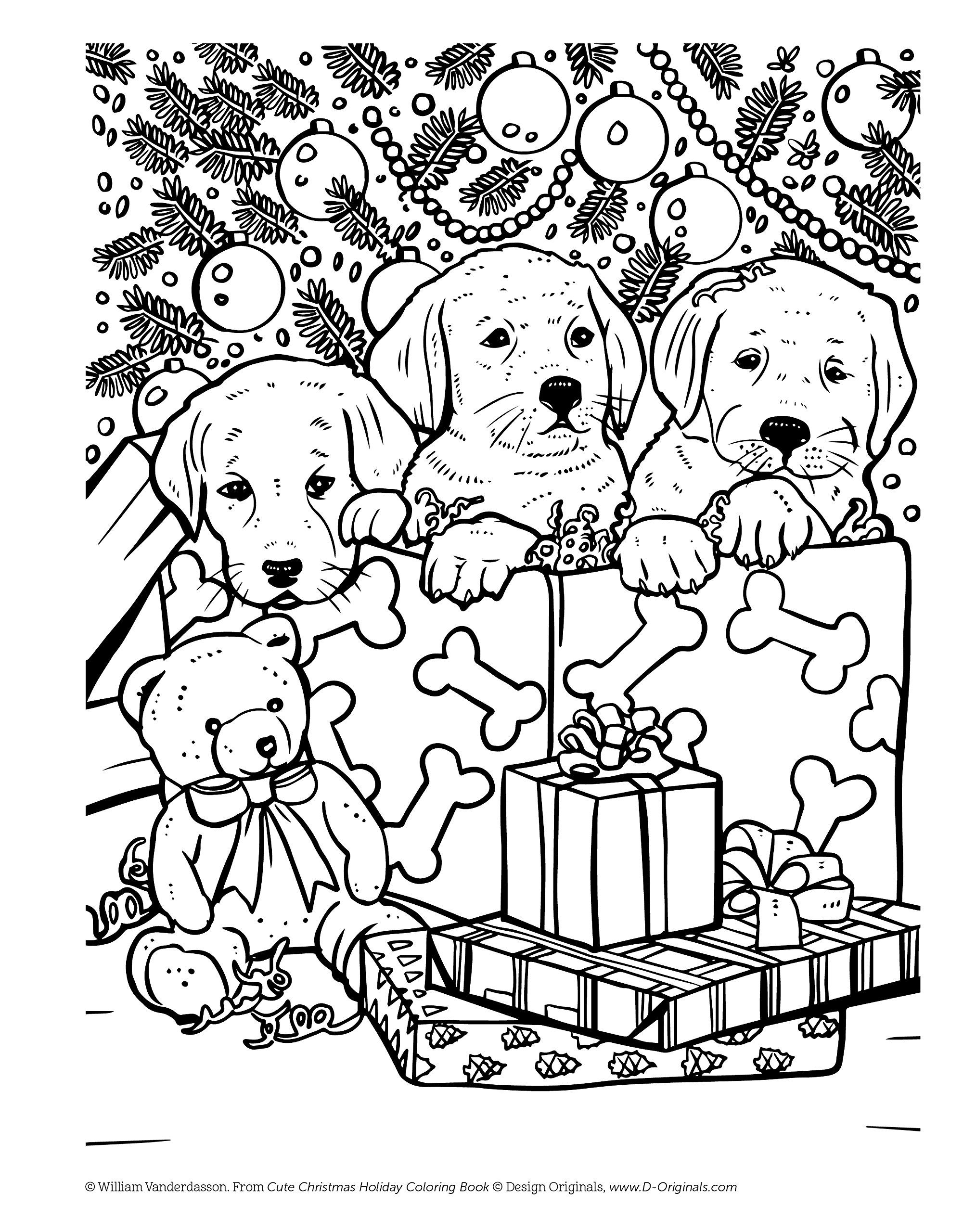 Cute Christmas Holiday Coloring Book For Animal Lovers Christmas