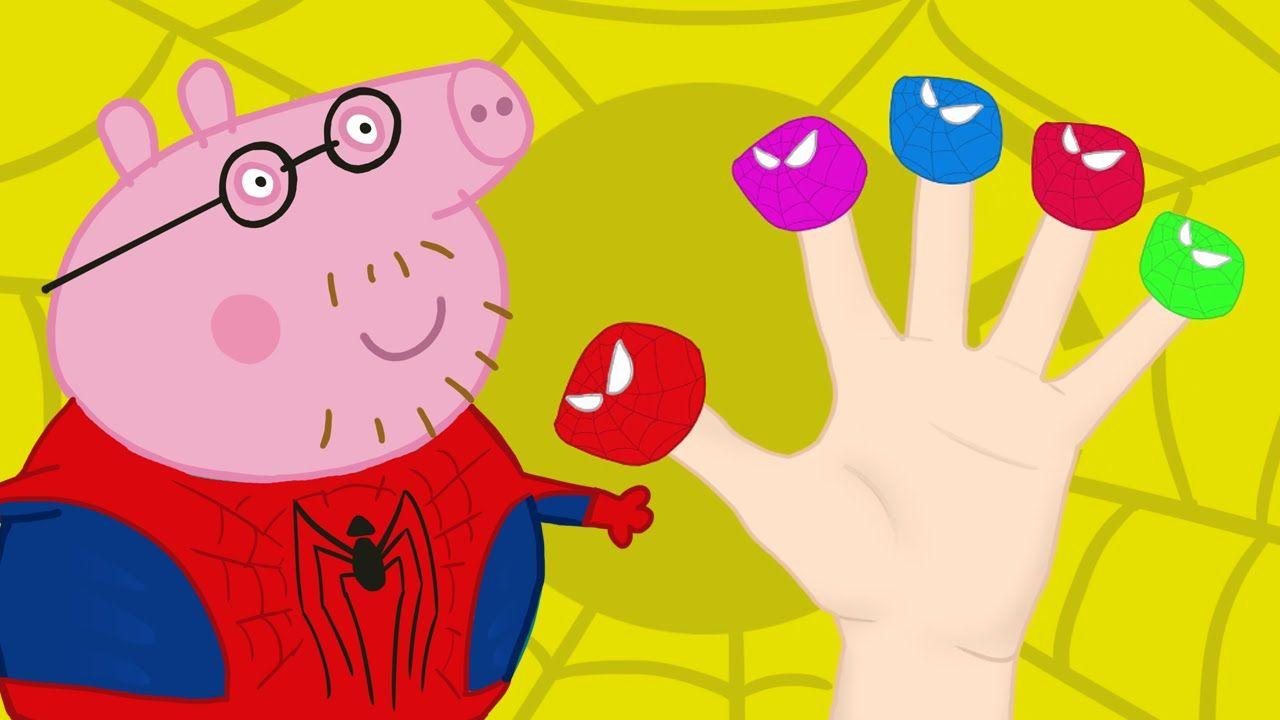 Peppa Pig Spider Man Finger Family Nursery Rhymes Lyrics And