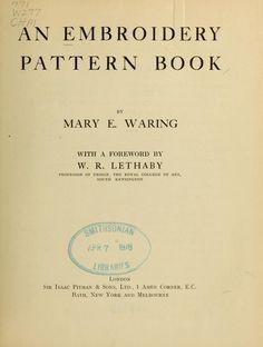 An embroidery pattern book (veel patronen en borduursteken)
