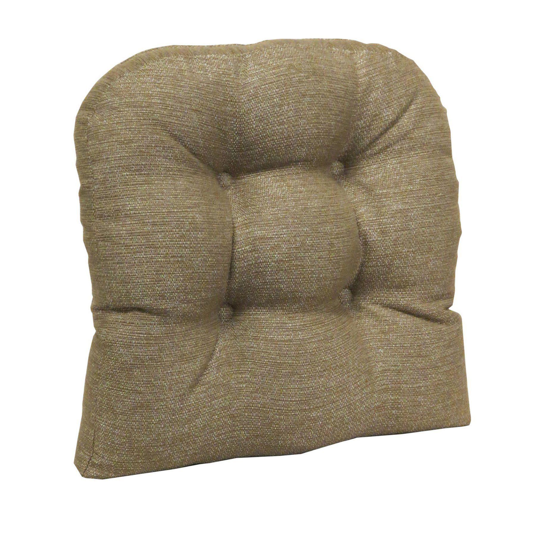 Klear Vu Gripper Non Slip 17 X Omega Tufted Universal Dining Chair Cushion