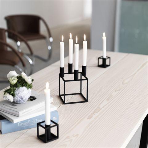 By Lassen Kubus 4 Candle Holder Black Norsu Interiors
