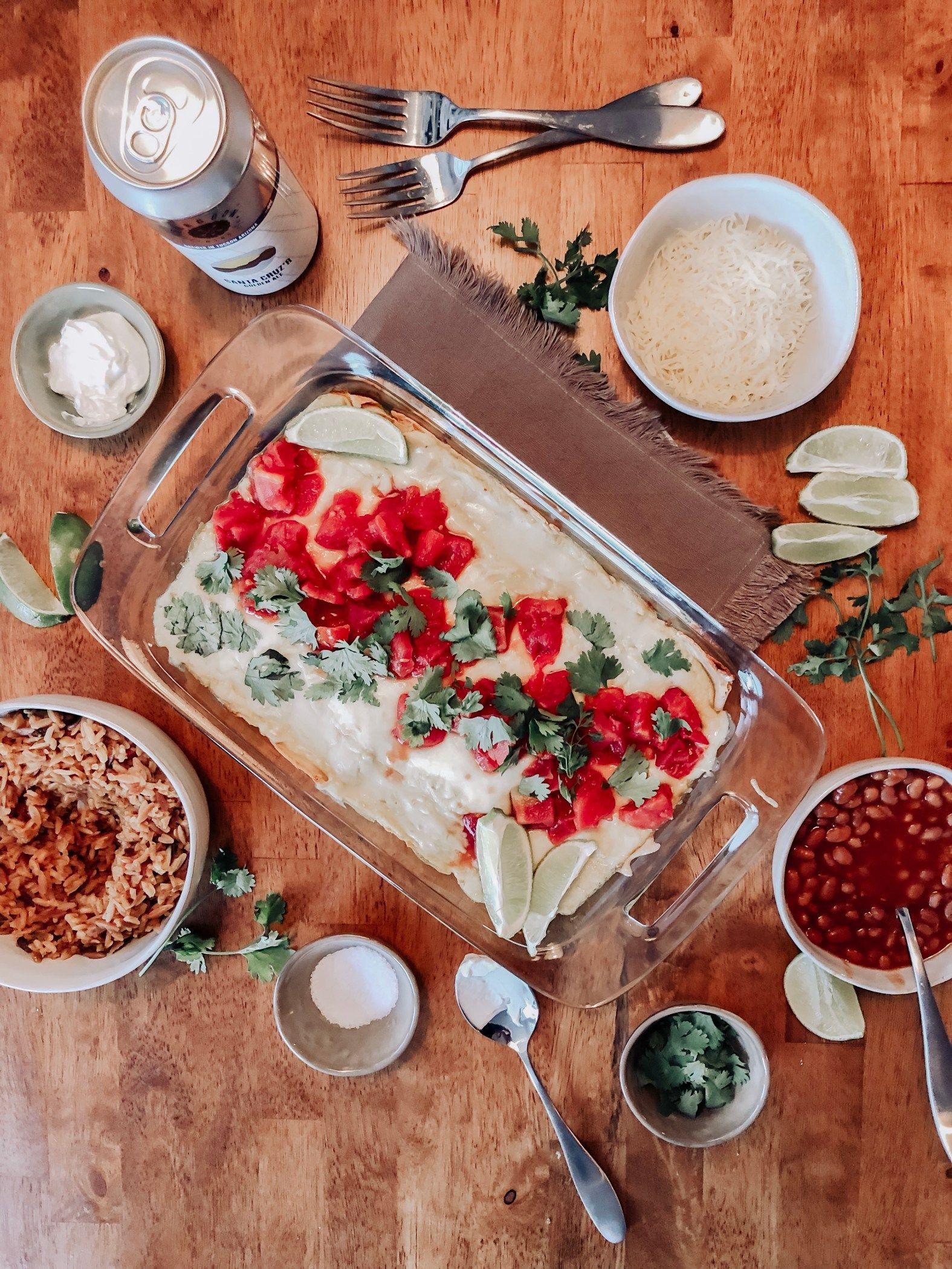 Joanna Gaines Sour Cream Chicken Enchiladas Studio Sheppard In 2020 Cream Of Chicken Sour Cream Chicken Sour Cream Enchiladas
