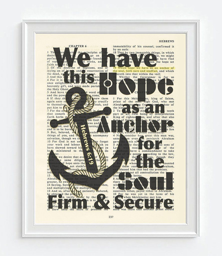 We Have This Hope  Hebrews 6:19  Vintage Bible Highlighted Verse Scripture  Page