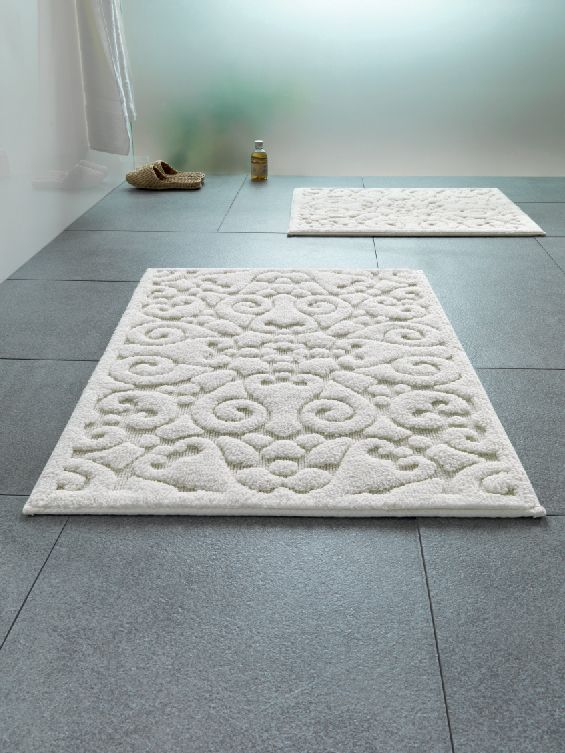 Spirella Orsini Beautiful Bathroom Rug White