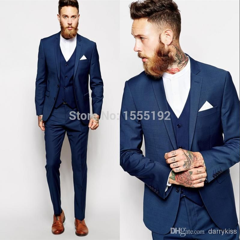 ASOS Skinny Fit Suit in Blue Dogstooth | Men's apparel | Pinterest ...