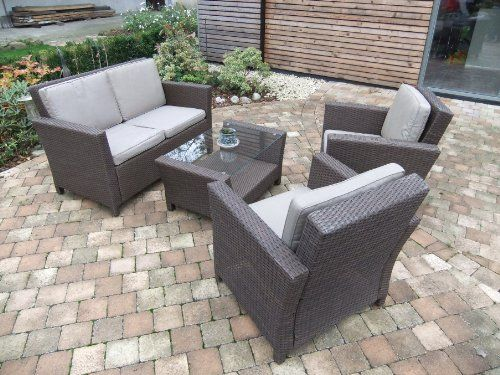 Poly Rattan Lounge In Brushed Brown Inkl Kissen Von Dacore Harbo