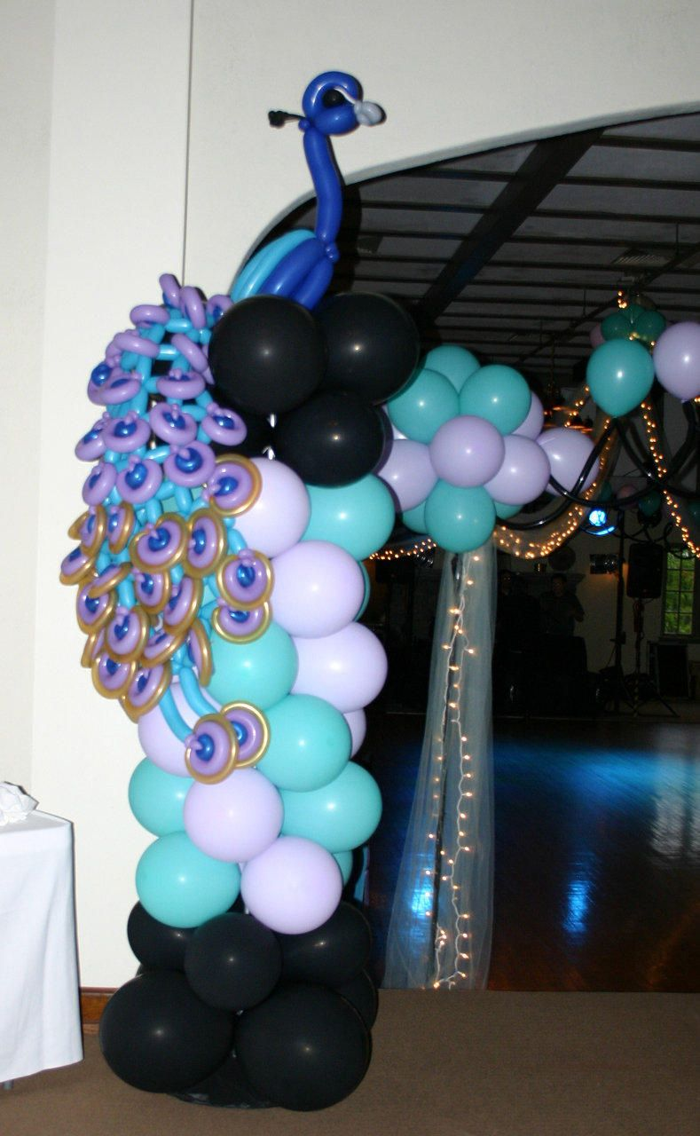 Peacock ballon decor ballons ideas pinterest