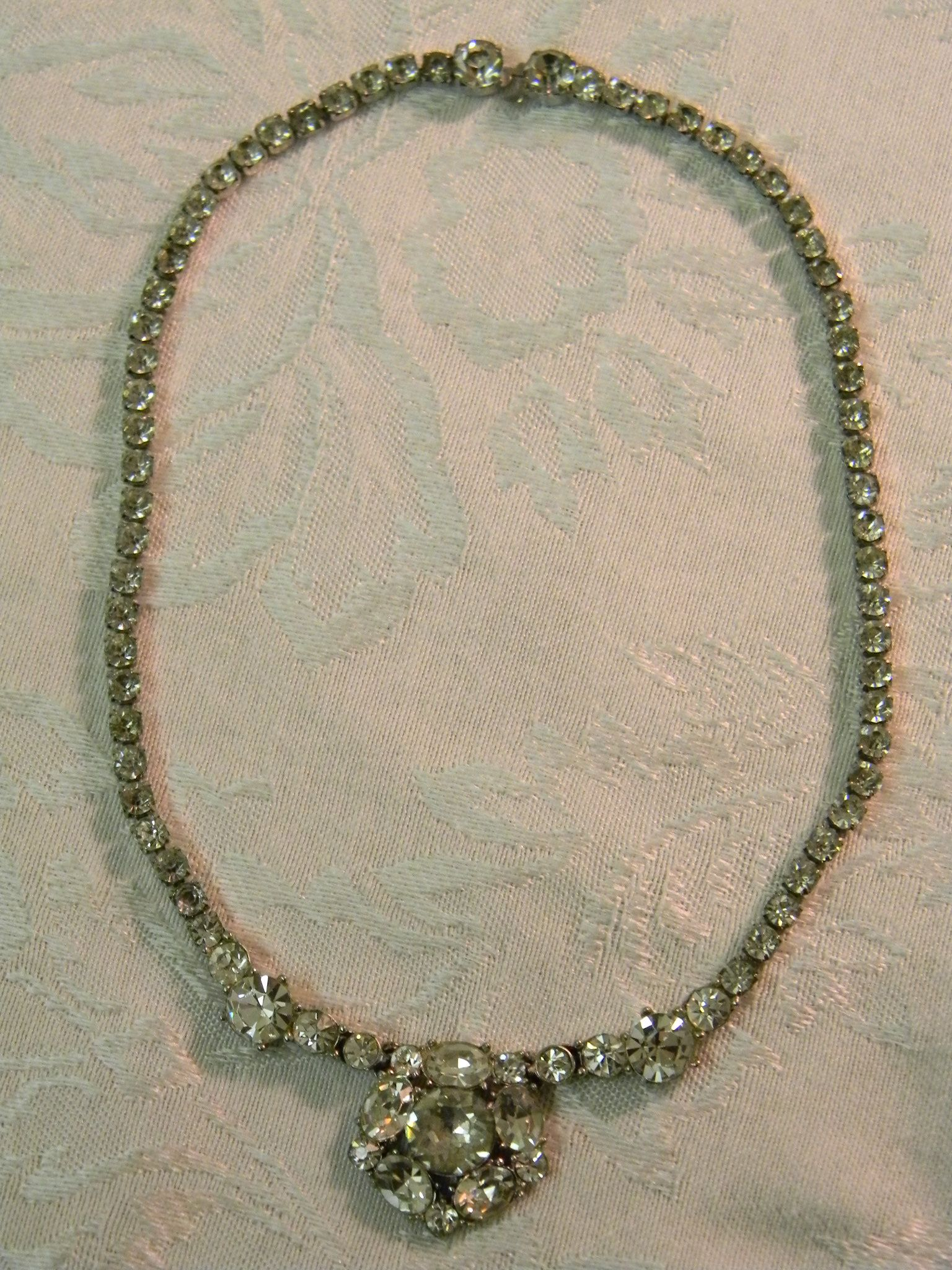 Vintage bogoff rhinestone choker necklace for Bogoff vintage costume jewelry