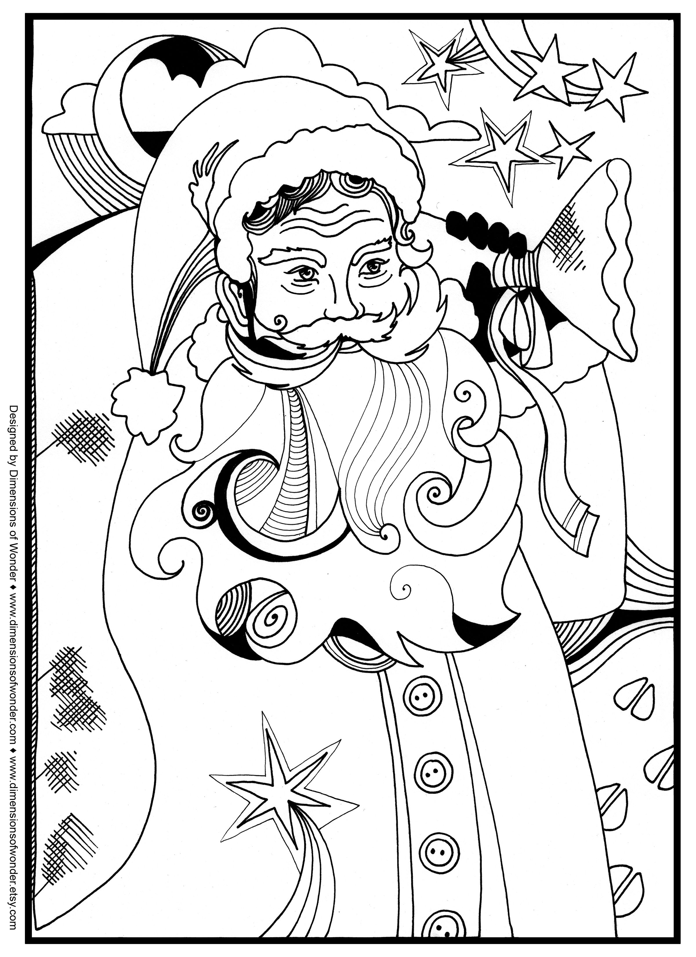 Santa Christmas Around The World Coloring Pages