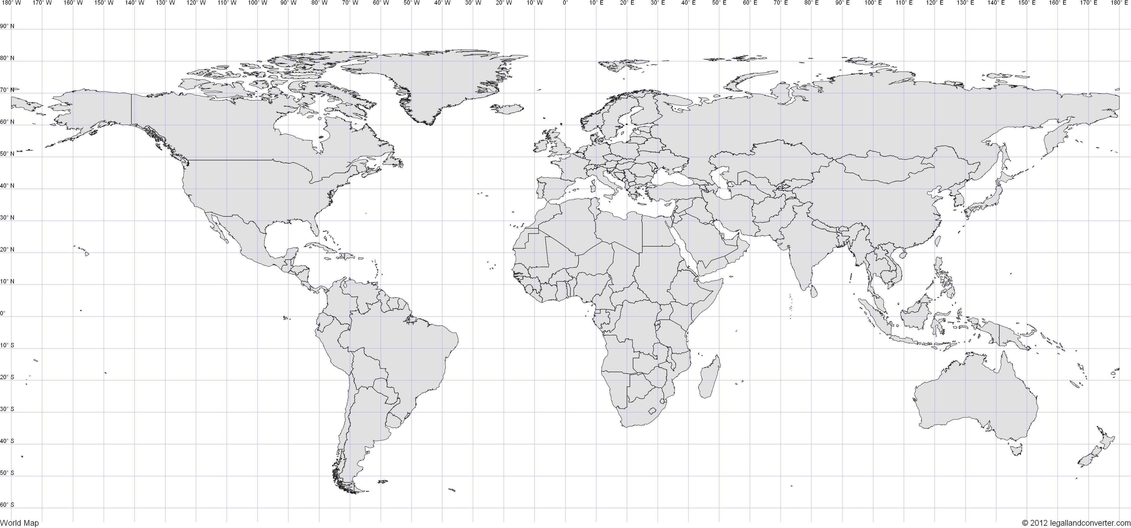 World Map Latitude Longitude With Images