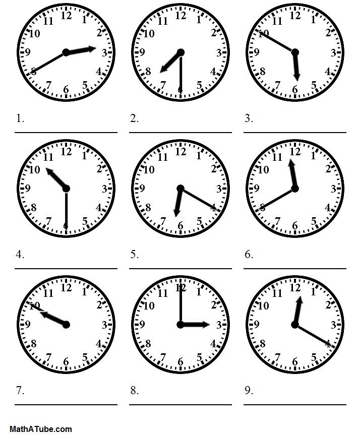 Telling Time Worksheets  Telling The Time Worksheet  Projects To