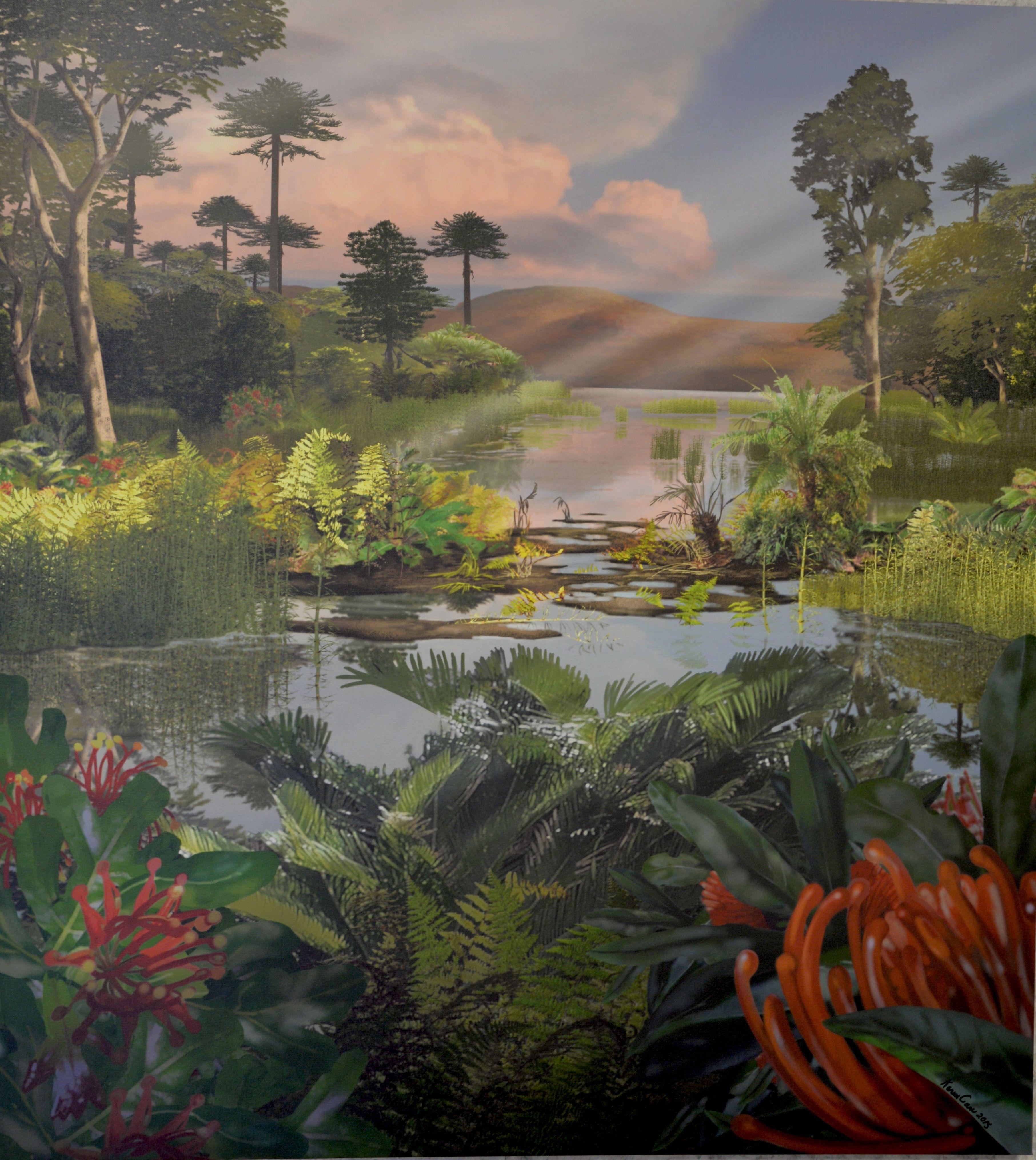 Karen Carr, 2015 Australian Plant Community: Cretaceous Period