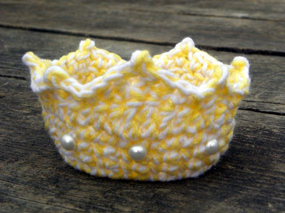 Items similar to Newborn Princess Crown Crochet Pattern - Instant Download on Etsy #crownscrocheted