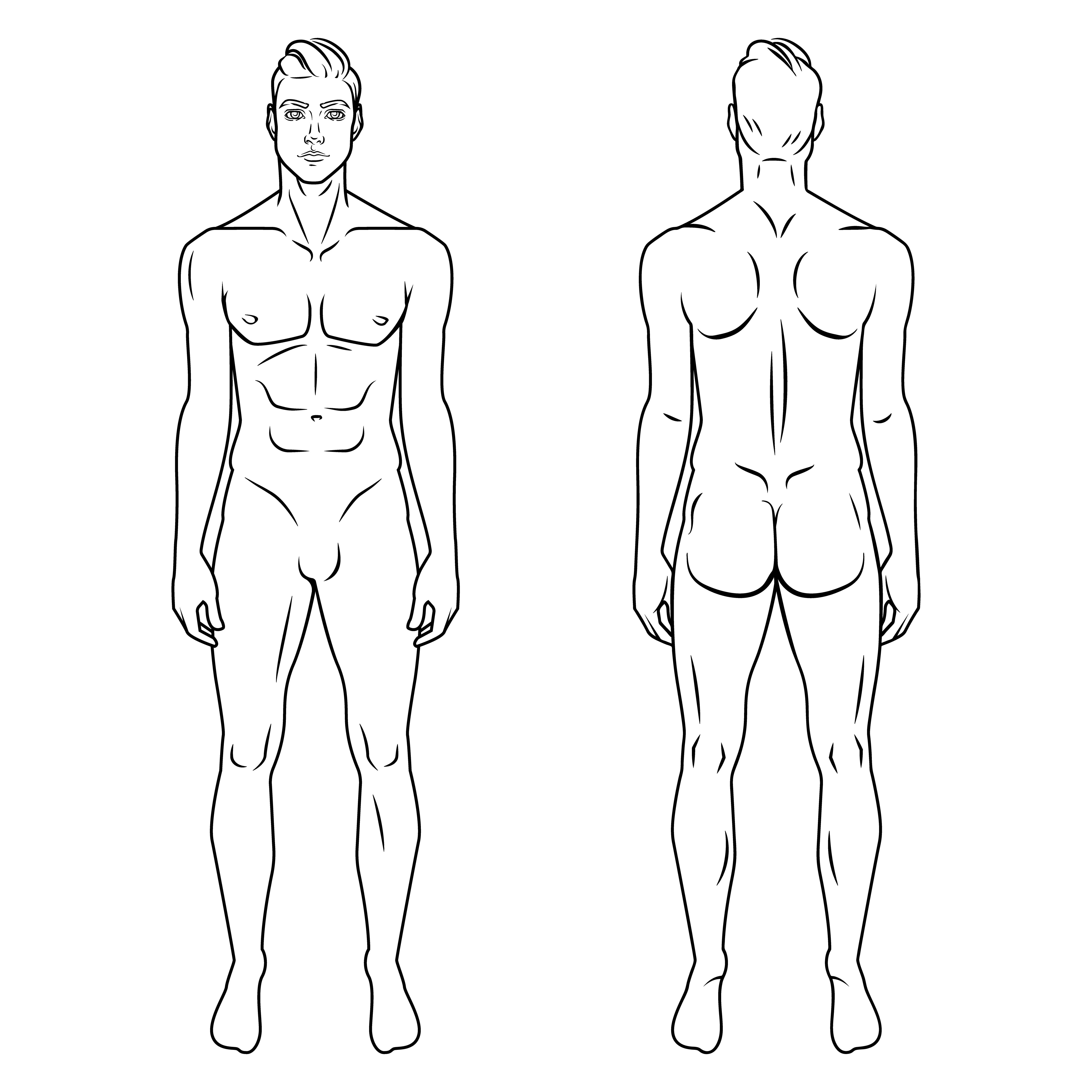 2 50 Great Purchase No Subscription Man Body Model Front And Back Human Poses Male Human Silhou Figure Drawing Fashion Illustration Male Figure Drawing Transparent transparent background woman silhouette png. pinterest