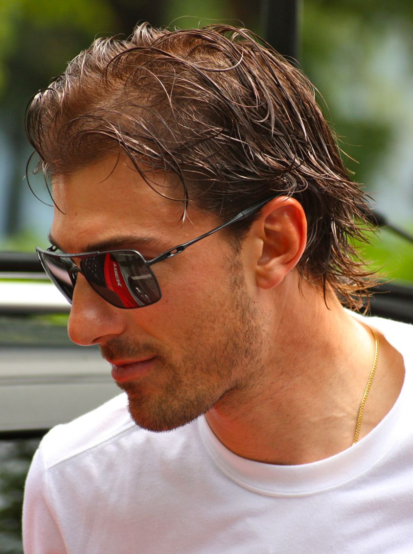 Fabian Cancellara - the Swiss cyclist. He is one of the people who inspires my image of Gabriel St. Briac. (Except Gabriel has slightly curly hair. :-)