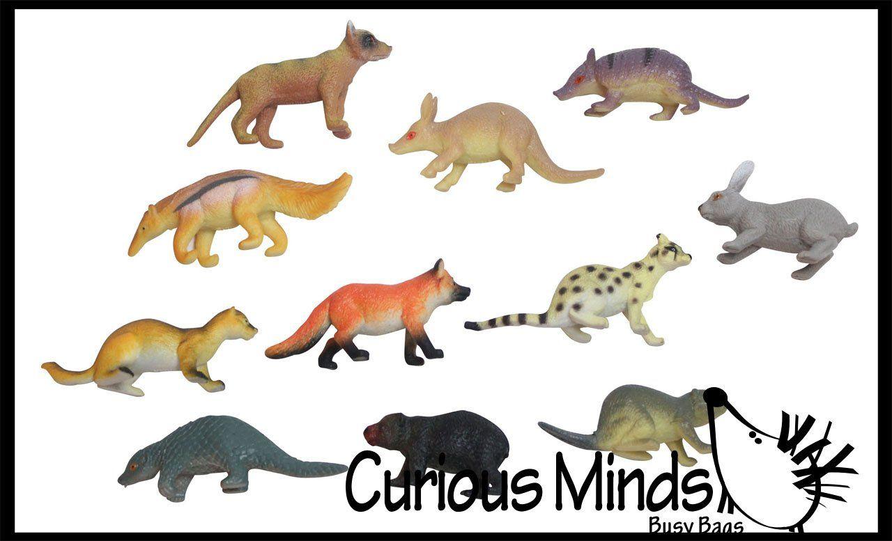 Miniature Animal Assortment With Anteater Figurines