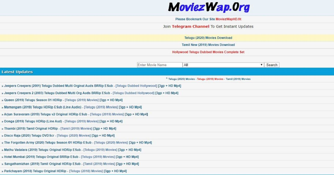 Moviezwap 2020 Tamil Movie Hindi Hollywood Dubbed Movies
