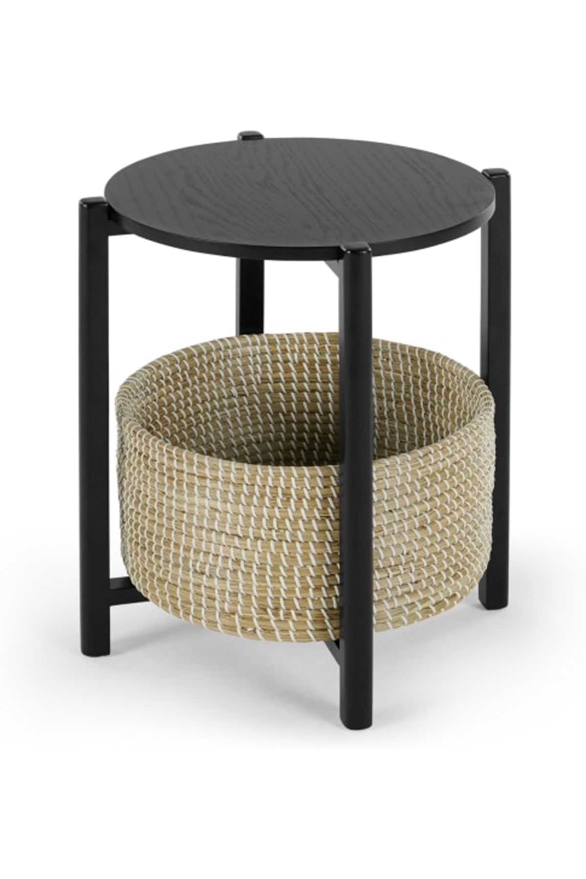 Best Pipel Bedside Table Black Stain And Rattan Rattan 400 x 300