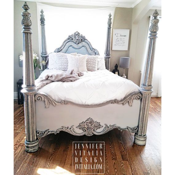 Merveilleux Antiqued Poster Beds   Hand Painted One Of A Kind Romantic Vintage ...