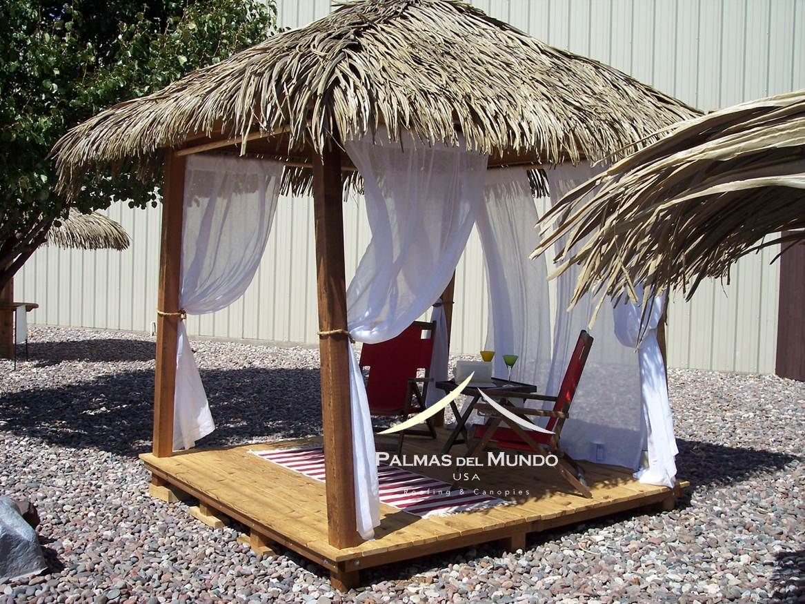 The Vip Cabana My Thatch Roof Tiki Hut Gazebo Side Panels Thatched Roof