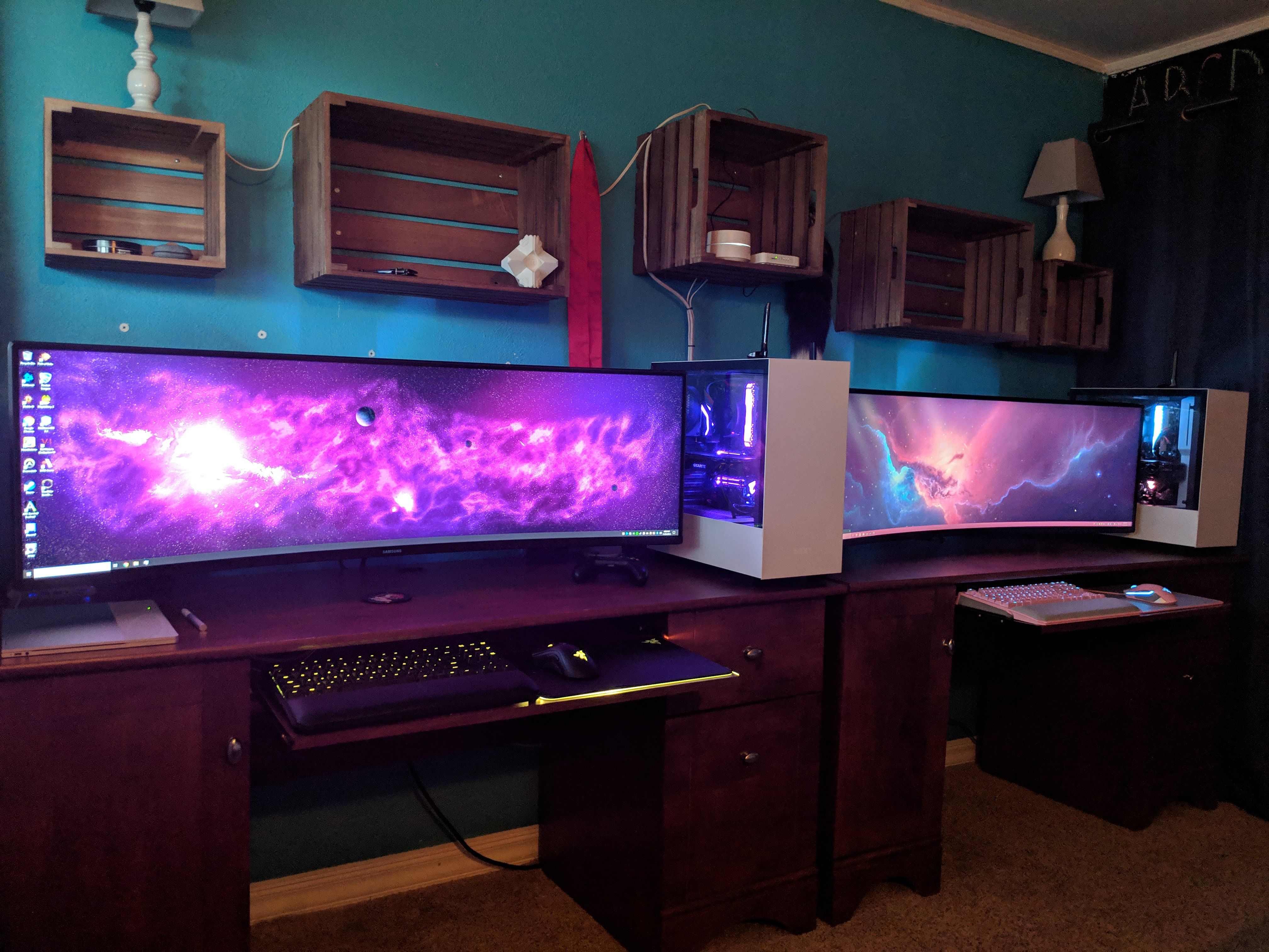 His And Hers Setup If I Find My Player 2 Gaming Room Setup Room Setup Gamer Room
