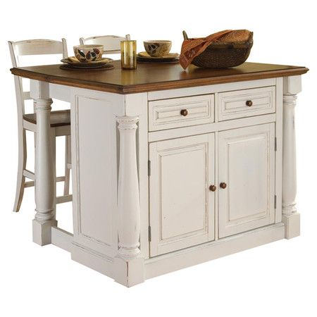Found It At Wayfair Monarch 3 Piece Oak Top Kitchen Island Set In