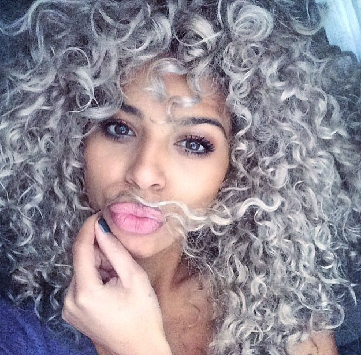 Pin By Bella On Curly Hair Pinterest Gray Curly And Hair