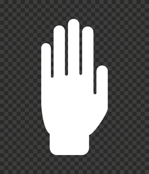 Hd White Stop Hand Silhouette Icon Symbol Png Hand Silhouette Icon Symbols