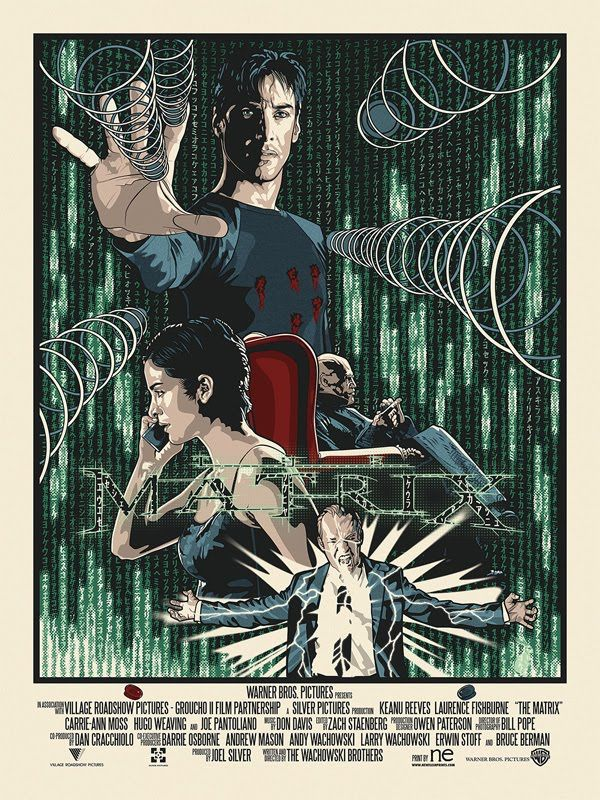 Poster de película The Matrix alternativa mínima