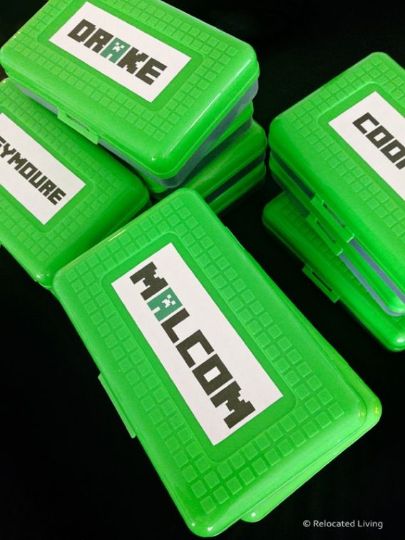 DIY Minecraft Party Favors with free printable a and link to