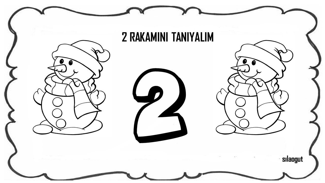 7 Rakami Boyama Okul Oncesi Ust Ev Boyama Sayfasi