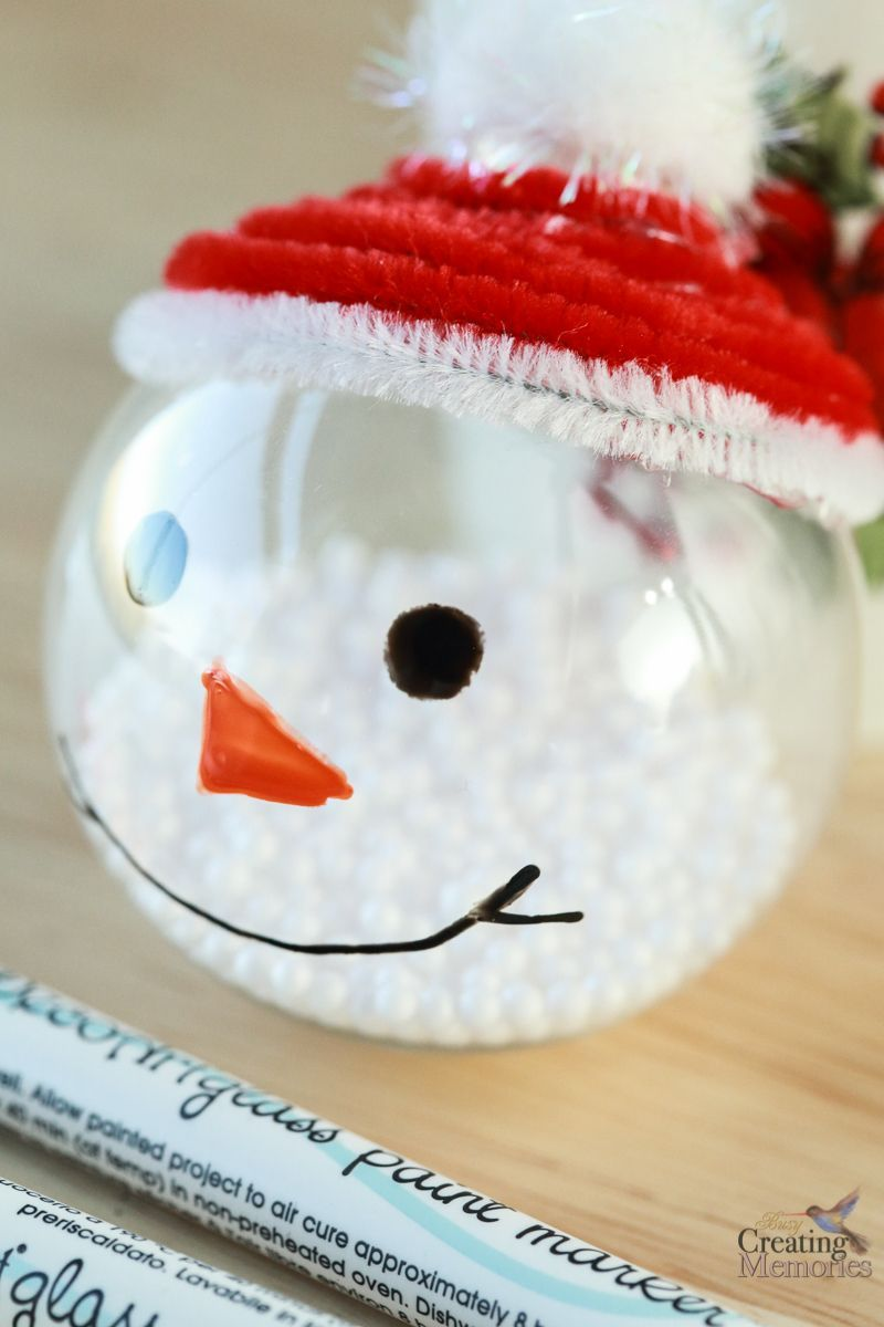 Easy Snowman Ornaments Tutorial Homemade Christmas Crafts