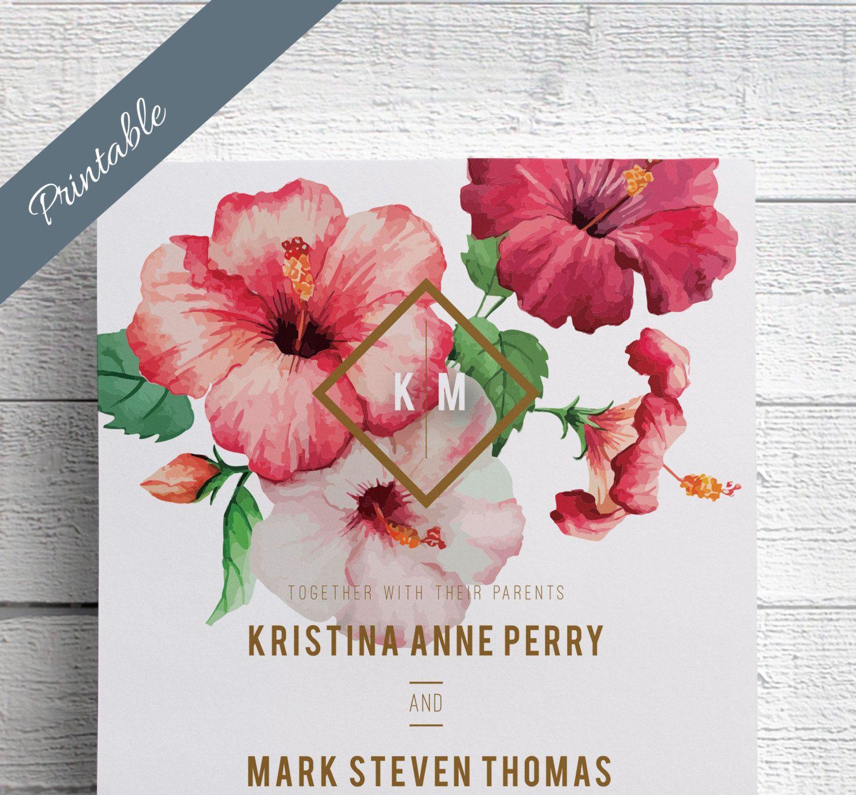 New to EdenWeddingStudio on Etsy: Hawaii Wedding Invitations ...
