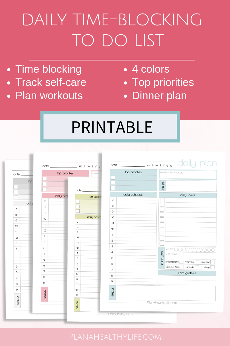 Printable Daily Time Blocking To Do List Time Blocking Printable Time Blocking How To Plan