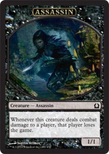 MTG 4x ASSASSIN /'TOKEN Jace vs.Vraska *Token Card*