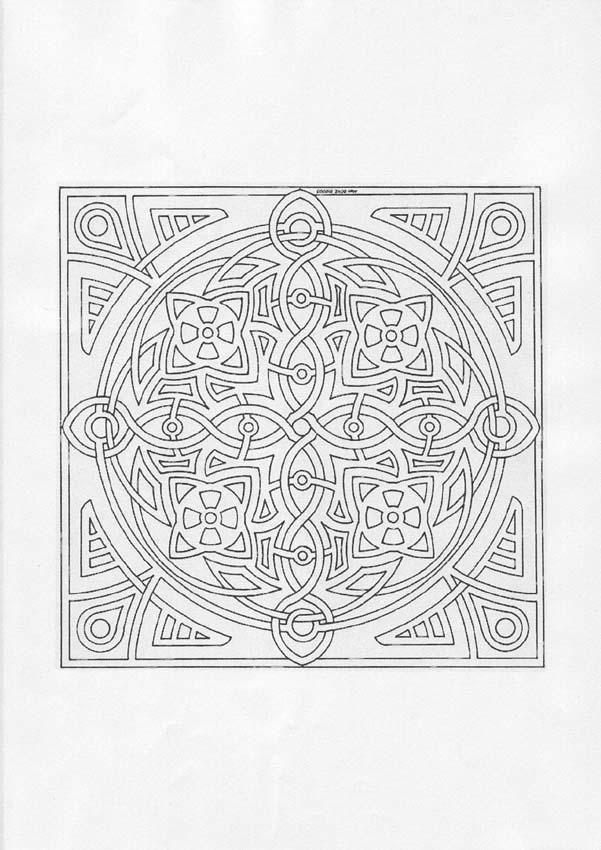 Mandala carr avec un effet tr s joli de dentelles et - Carre magique a imprimer ...