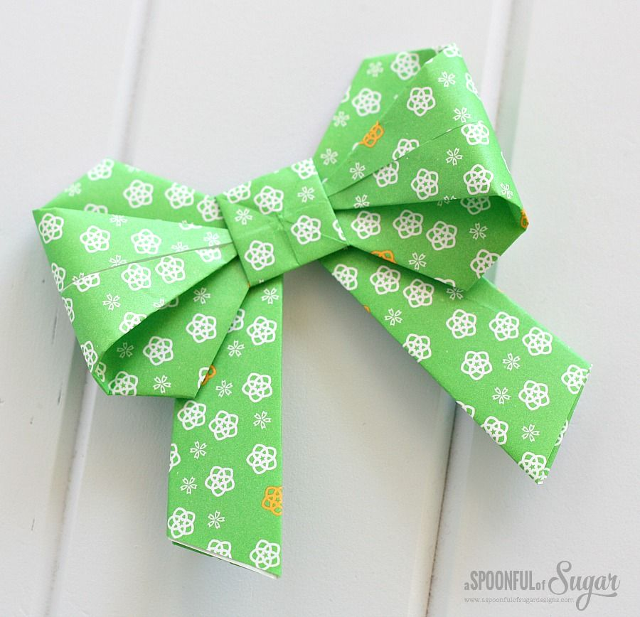 HOW TO MAKE AN ORIGAMI PAPER BOW. — Gathering Beauty | 868x900