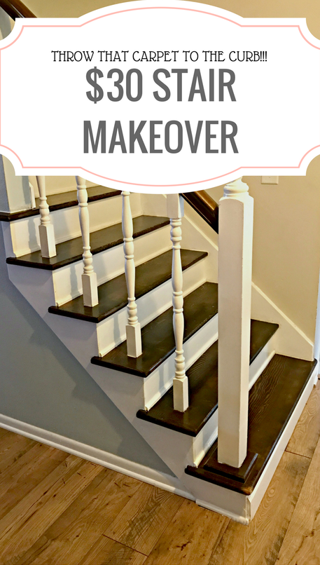 30 stair makeover paityn edwards get pin spired with for Ideas for redoing stairs