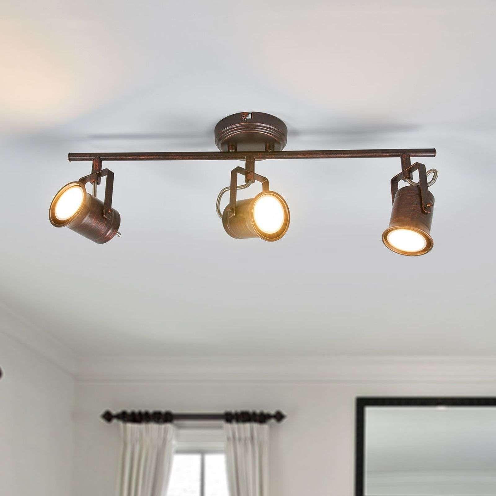 Plafonnier Led Cansu Rustique Brun En 2020 Plafonnier Led Lampe De Plafond Plafonnier