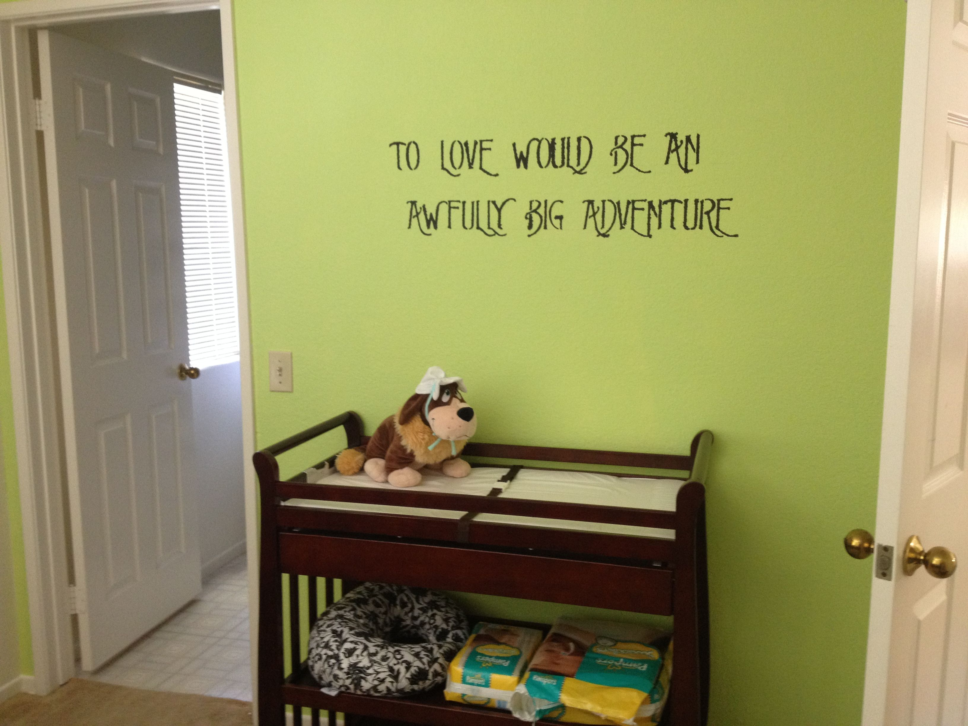 The color wall for a Peter Pan nursery | Peter Pan nursery ...