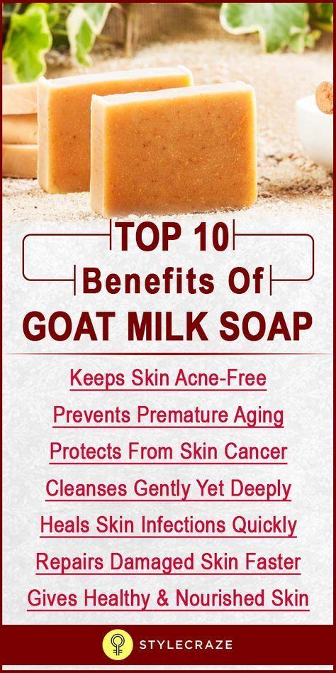 Top 10 Benefits Of Goat Milk Soap   Homemade soap recipes ...