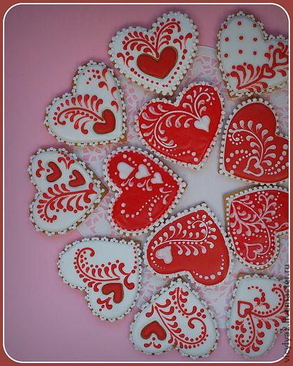 """Кулинарные сувениры ручной работы. Ярмарка Мастеров - ручная работа """"Sweet dreams"""" свадебные пряники-сердечки. Handmade."""