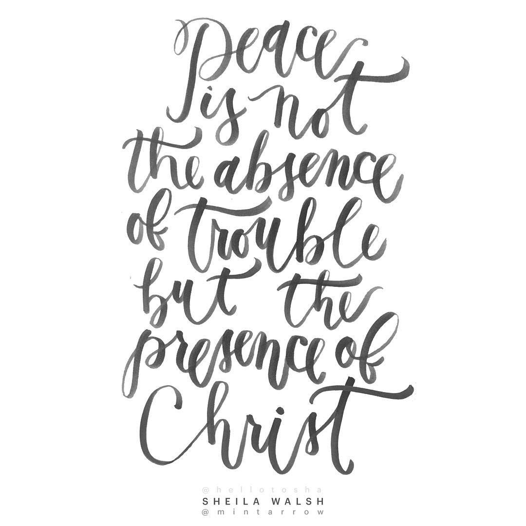 Peace Quote Calligraphy